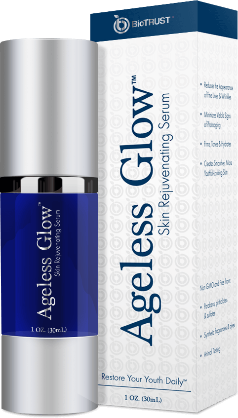 Ageless Glow bottle and box