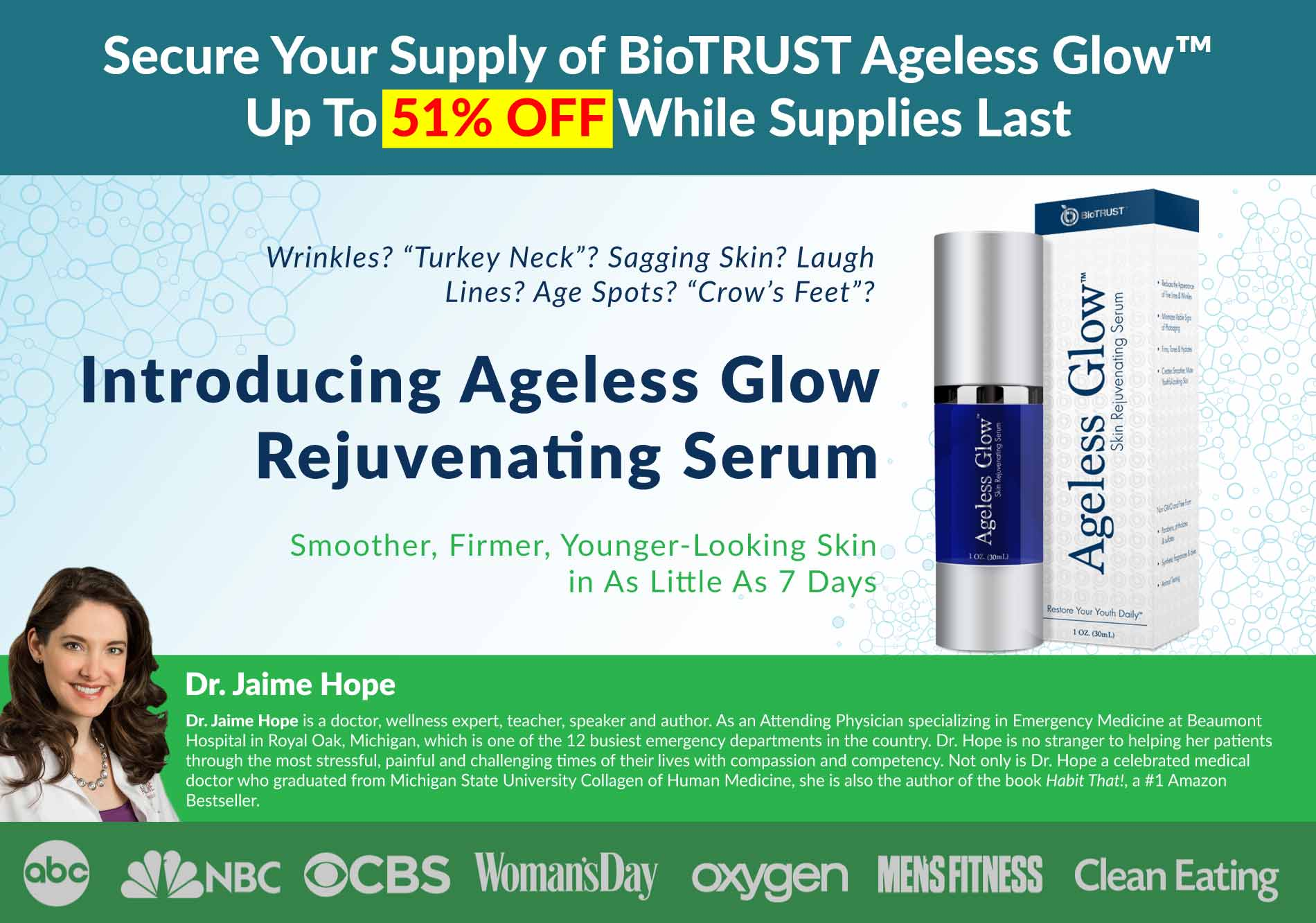 Ageless Glow 51% Off While Supplies Last