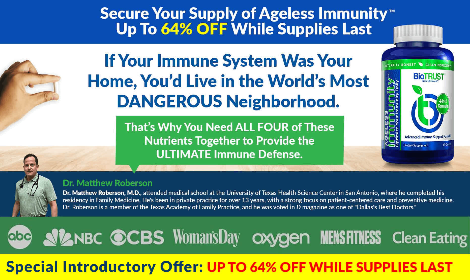 BioTRUST Ageless Immunity 64% Off