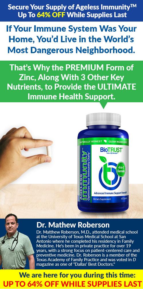 BioTRUST Ageless Immunity 64% Off