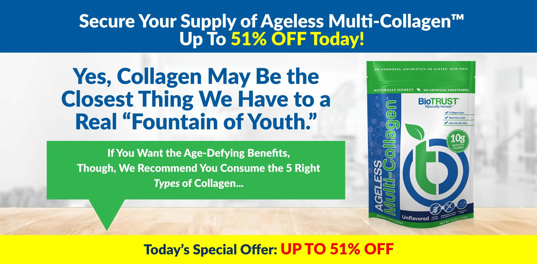 Secure Your Supply of Ageless Multi-Collagen