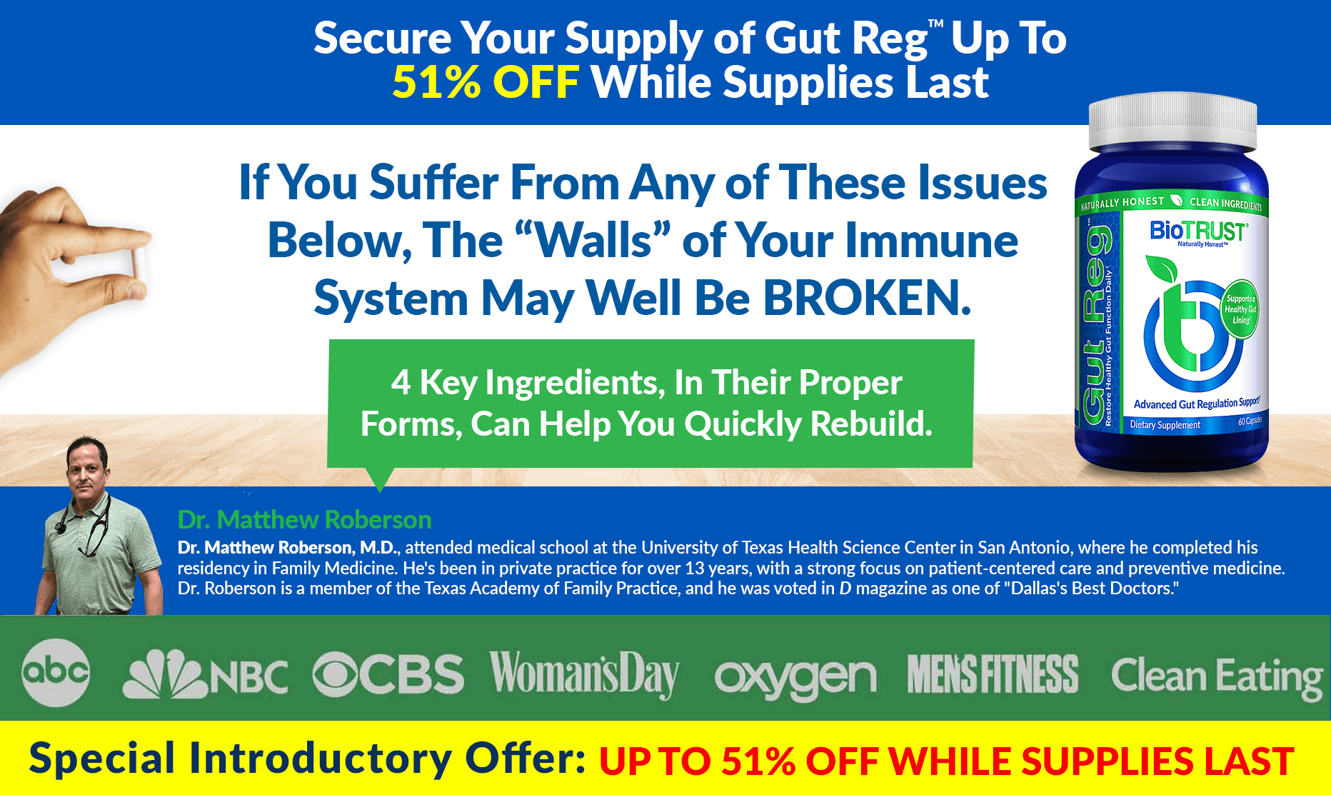 Secure Your Supply of Gut Reg