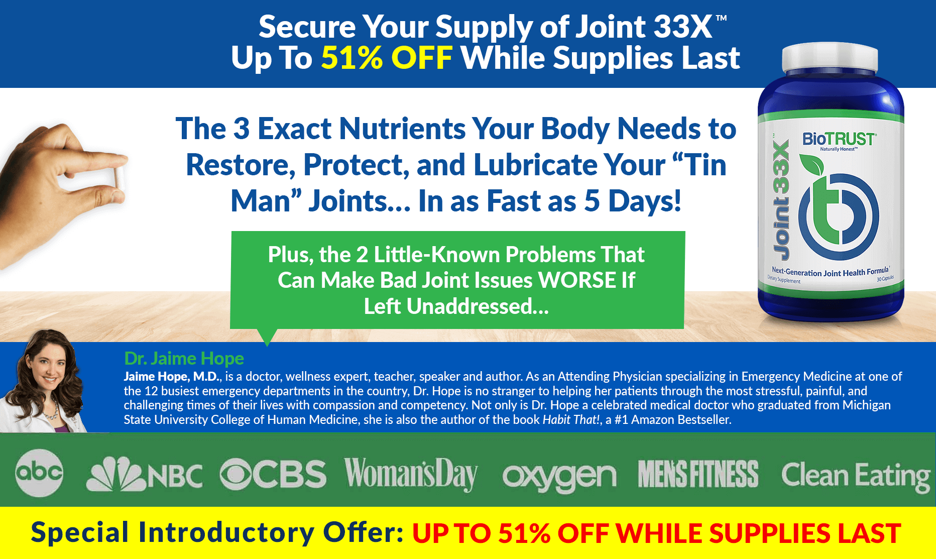 Secure Your Supply of Joint 33X