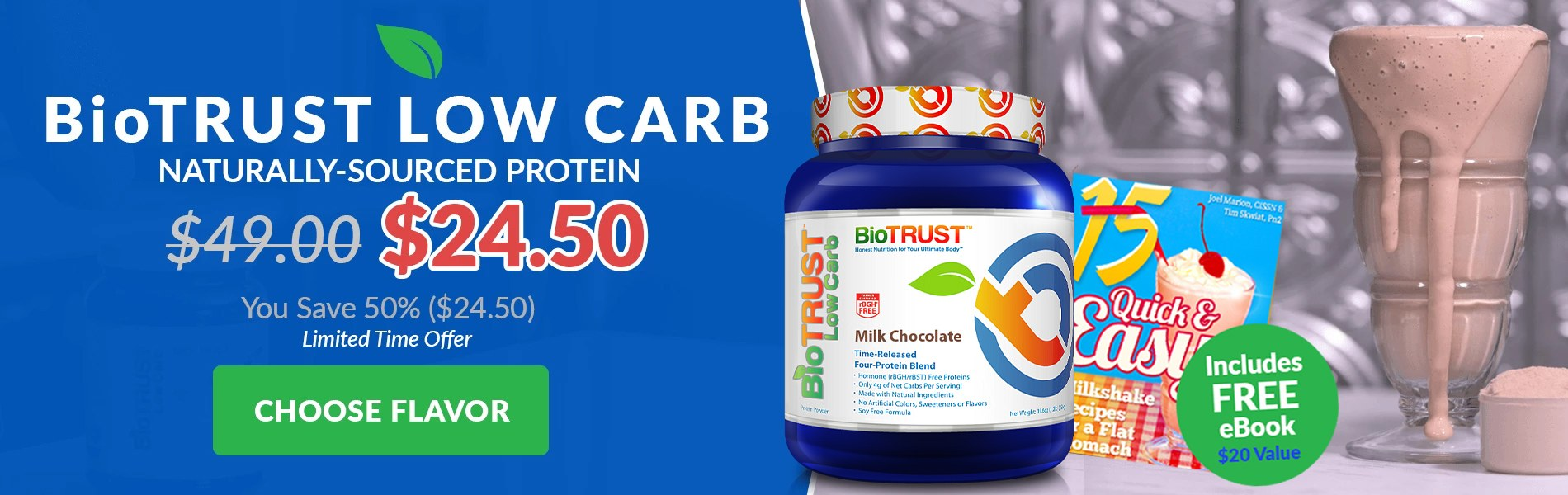 BioTRUST Low Carb Gourmet Low Carb Protein Blend