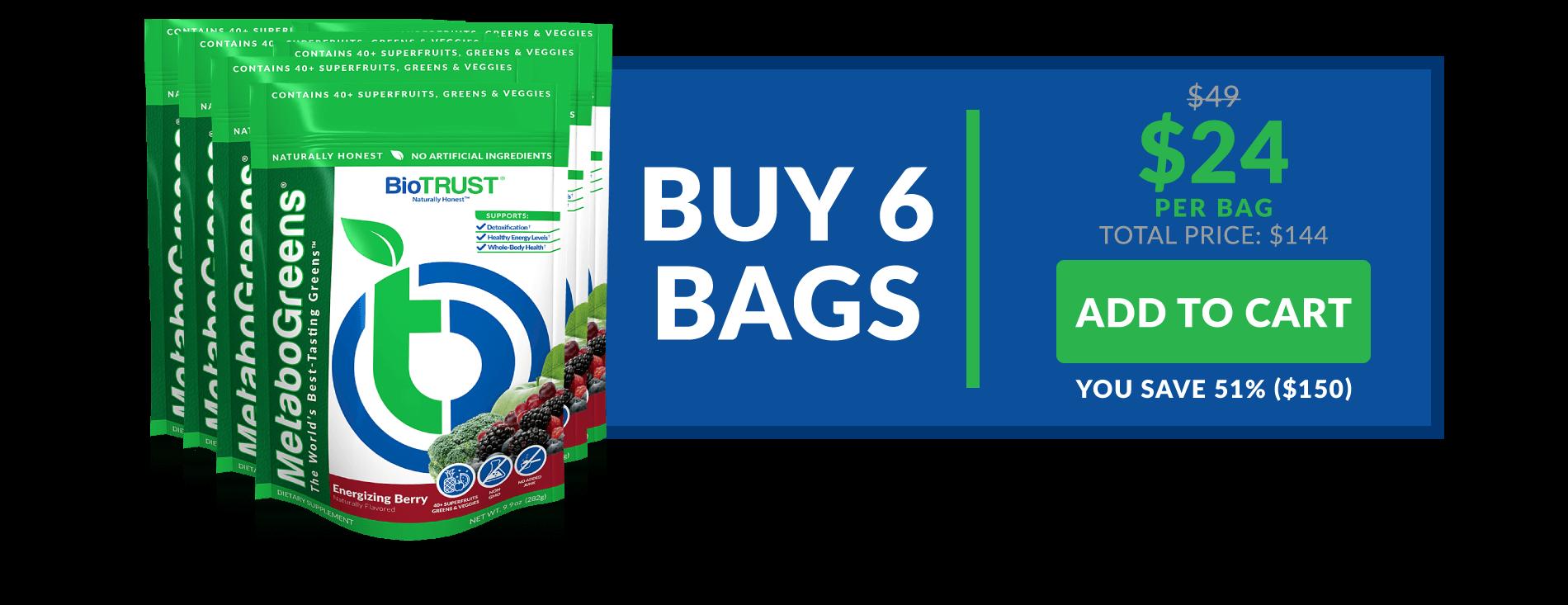 MetaboGreens - Buy 6