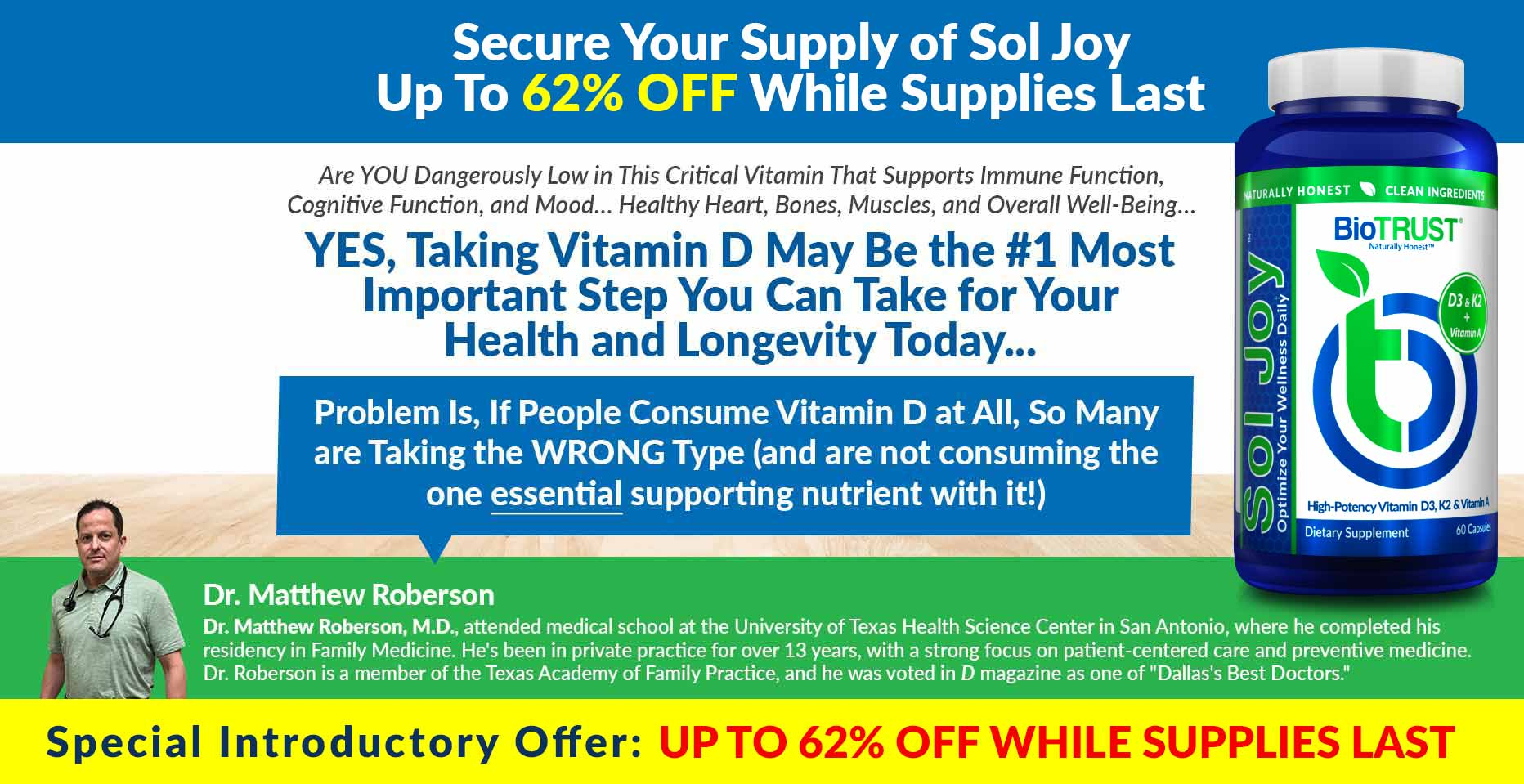 Secure Your Supply of Sol Joy