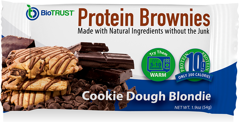 BioTrust Cookie Dough Blondie Protein Brownie