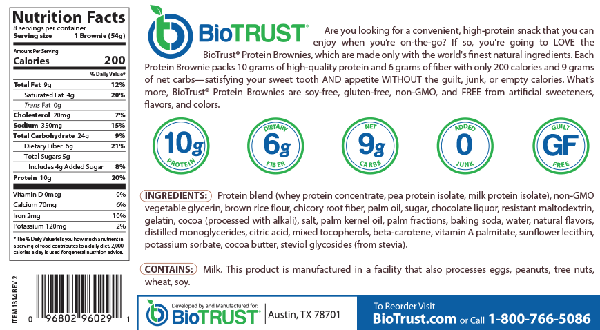 BioTrust® Protein Brownies Cookie Dough Blondie