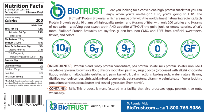 BioTrust® Protein Brownies Triple Chocolate