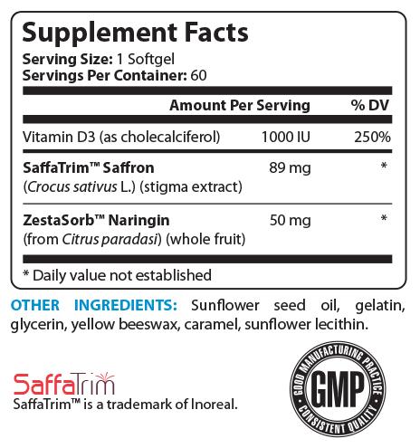 CraveFix 96 Supplement Facts